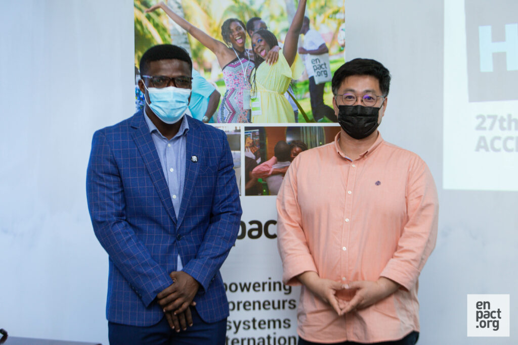 Kwang-Yung Jung, Regional Coordinator for West Africa, Sparkassen Stiftung and Ernest Armah, Country Manager for enpact Ghana.