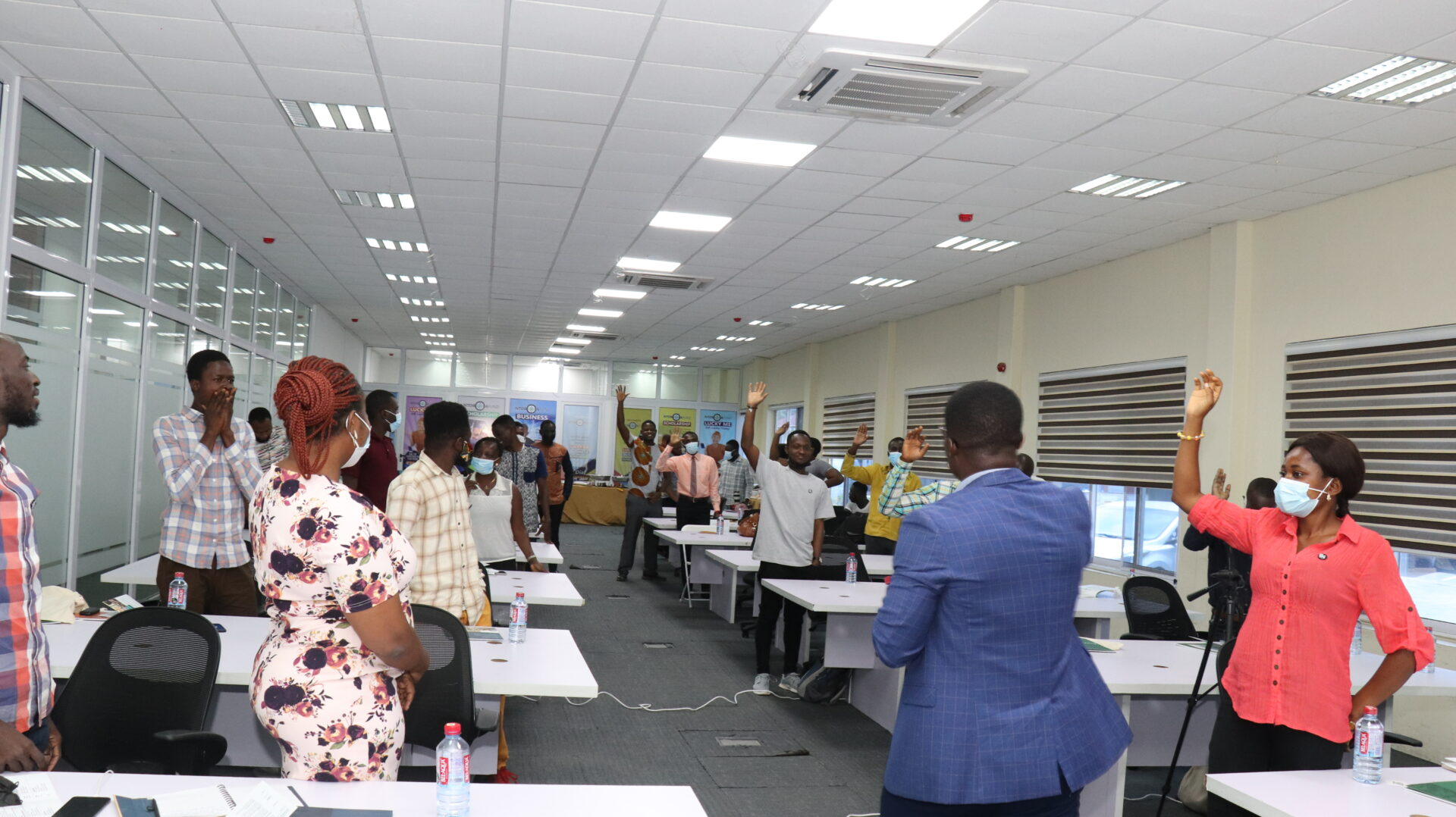 Beyond Covid-19 crisis hackathon by enpact Ghana took place at Accra Digital Centre.