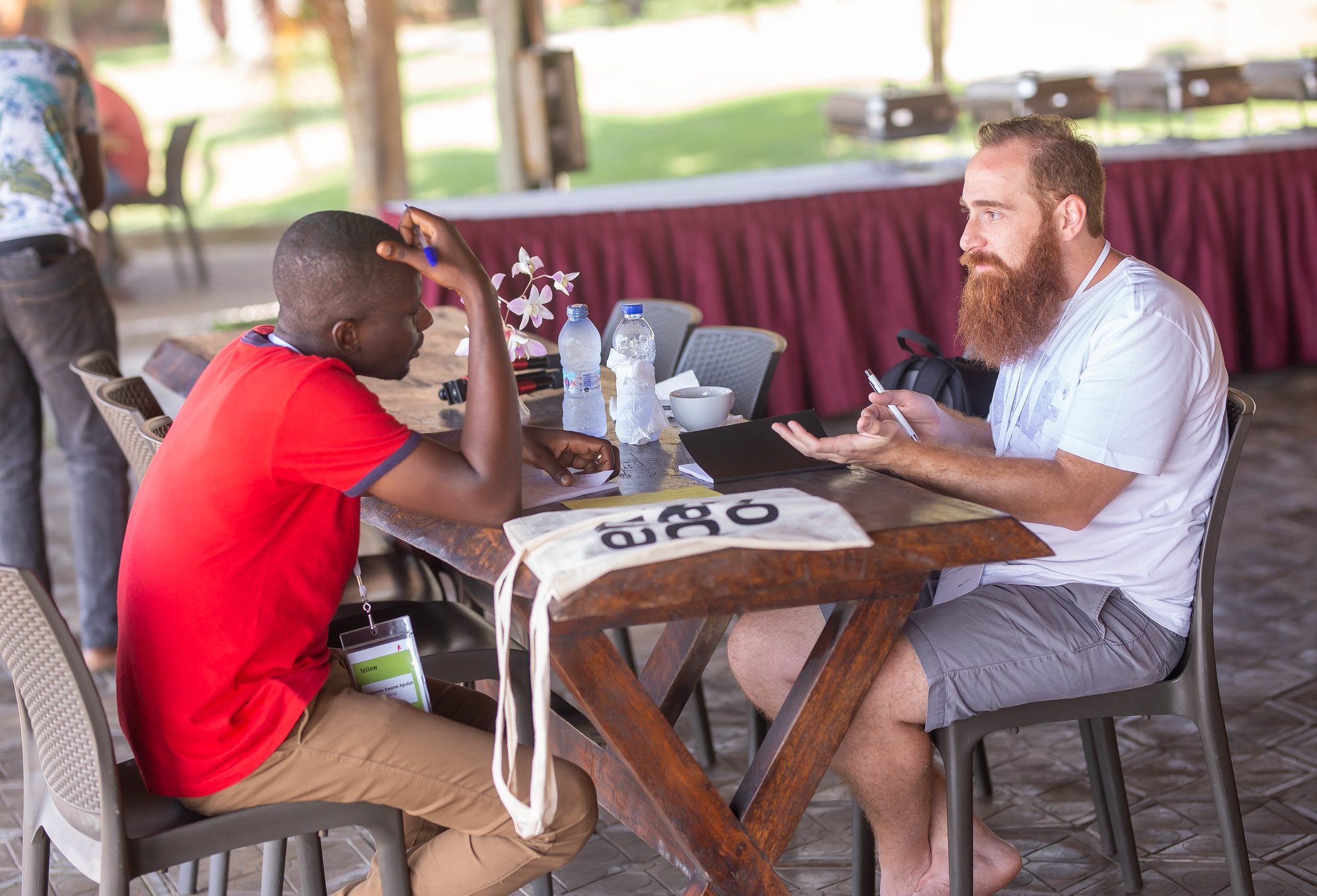Mentors and mentees met on the ground during the first startup camp of the International Mentoring Programme 2019/20.