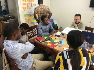 Programme Designers' Lab in Ghana took place at enpact's office in Accra.